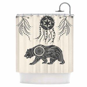ornate bear shower curtain
