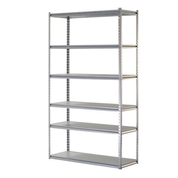 Boltless Rivet 84 H Six Shelf Shelving Unit by Sandusky Cabinets