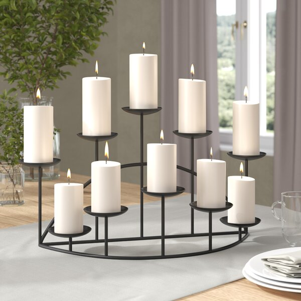 Metal Ten Candle Candelabra Set by Darby Home Co