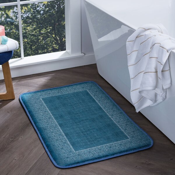 Faya Lacey Foam Core Bath Rug by Bungalow Rose