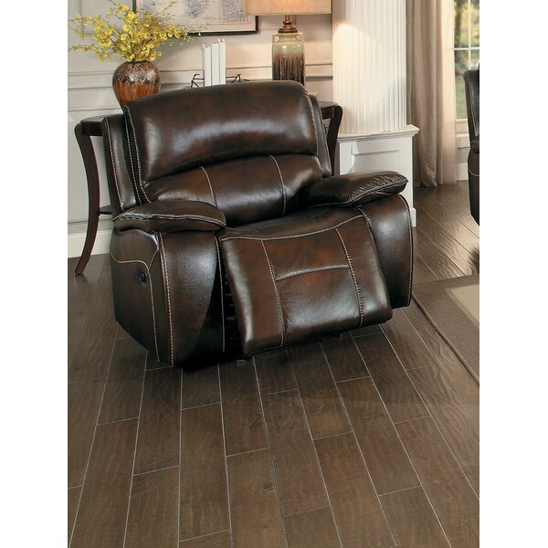 Jovanni Faux Leather Glider Recliner BNZC1642