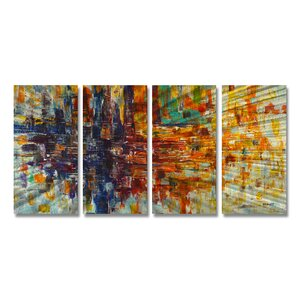 Pause by Steve Heriot 4 Piece Painting Set by All My Walls
