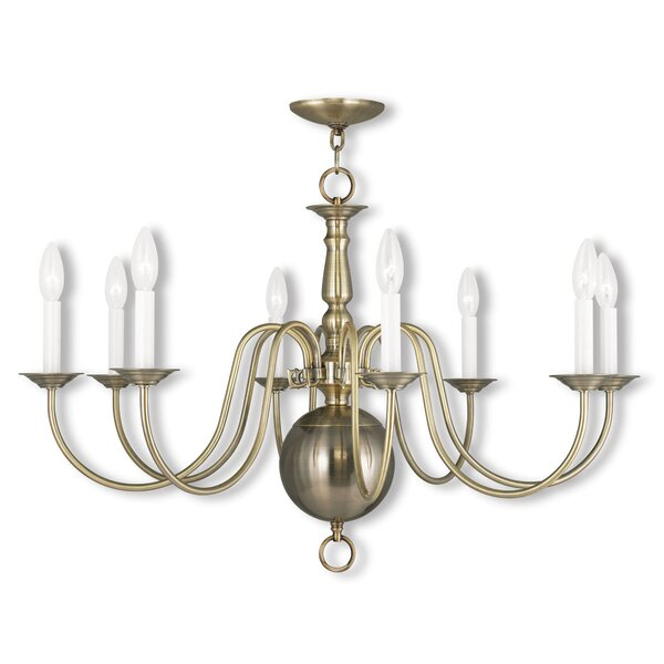 Pogue 8 - Light Candle Style Classic / Traditional Chandelier by Alcott Hill Alcott Hill