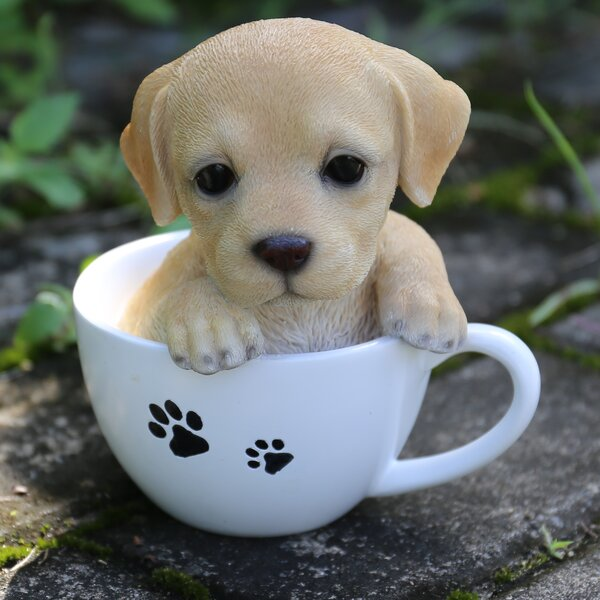 Teacup Labrador Puppy Statue by Hi-Line Gift Ltd.