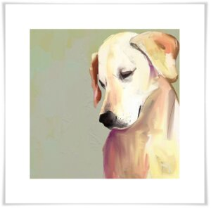 'Best Friend - Yellow Lab' by Cathy Walters Painting Print by GreenBox Art