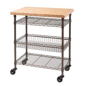 Ondina Bamboo Top Chef S Table Kitchen Cart Wood