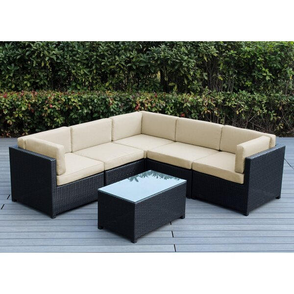 Laurinda 6 Piece Sectional Seating Group with Cushions by Breakwater Bay