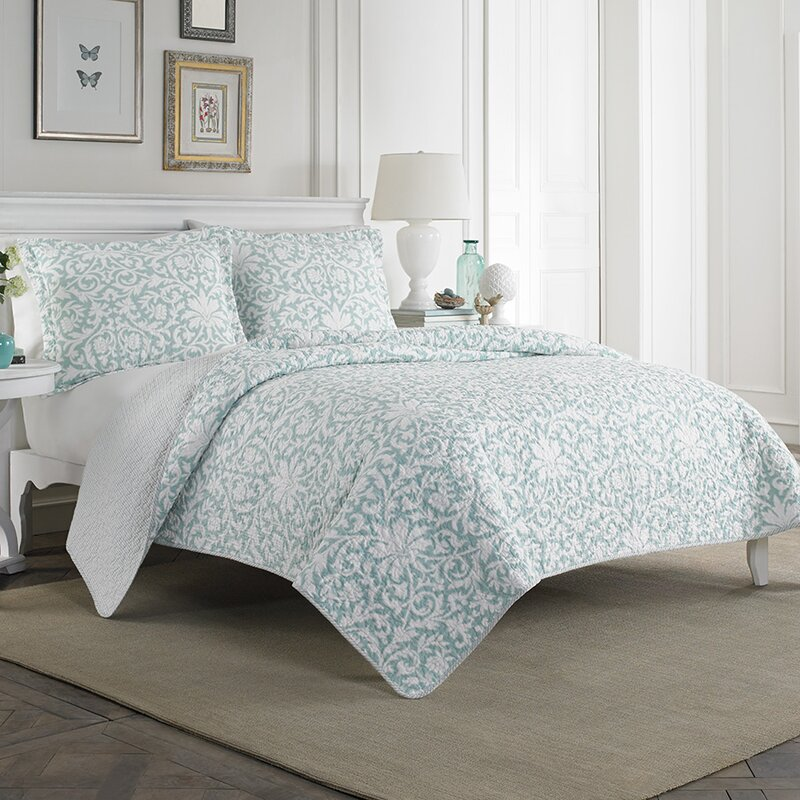 Nice Mia 100% Cotton Reversible Quilt Set By Laura Ashley Home