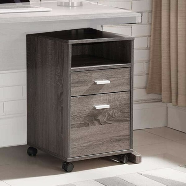 Wafer 2-Drawer Vertical Filling Cabinet by Latitude Run