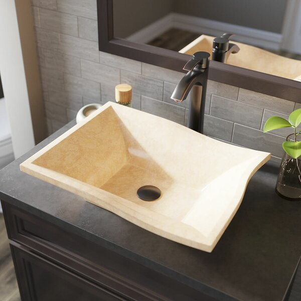 Egyptian Stone Specialty Vessel Bathroom Sink with Faucet