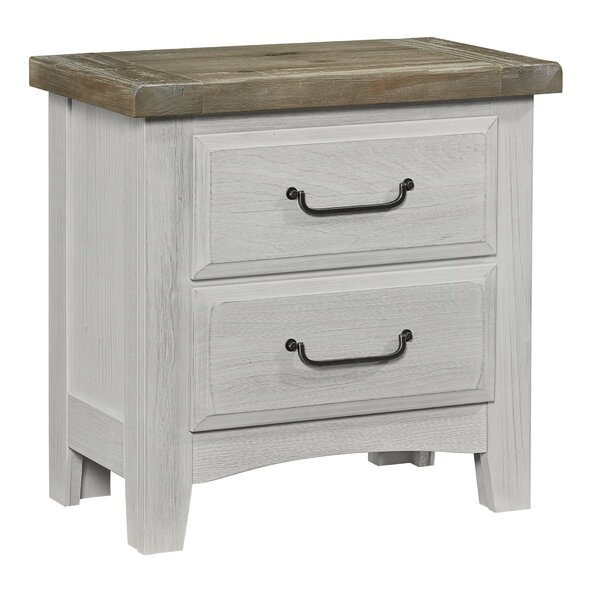 Giovanna 2 Drawer Nightstand by Highland Dunes