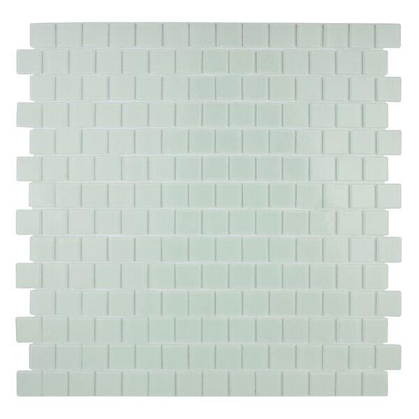 Quartz 0.75 x 0.75 Glass Mosaic Tile in White by Kellani