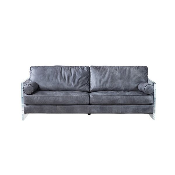 Nayeli Genuine Leather Sofa by 17 Stories