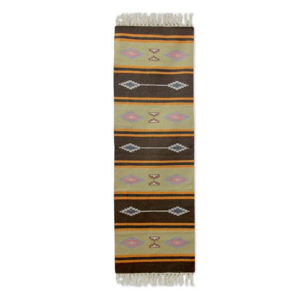 Winter Warmth Hand Woven Brown/Beige Area Rug by Novica