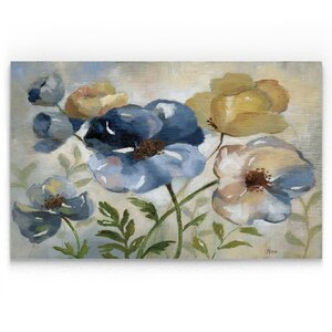 'Winter Blooms' Oil Painting Print on Wrapped Canvas by Winston Porter