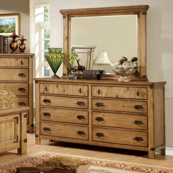 Torrino 8 Drawer Double Dresser with Mirror by Hokku Designs