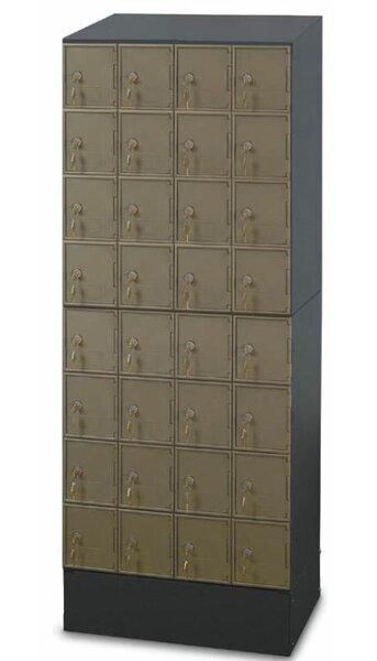 Guardian 8 Tier 4 Wide Employee Locker by Postal Products Unlimited, Inc.