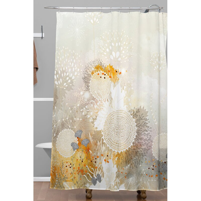 Bungalow Rose Holley Velvet Shower Curtain & Reviews | Wayfair