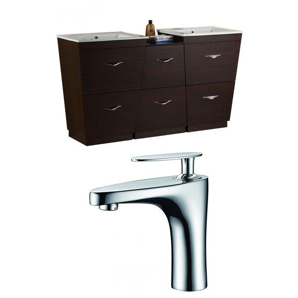 Vee 62 Double Bathroom Vanity Set