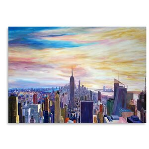 NYC Panorama with Wtc Chrysler Empire State Painting by East Urban Home