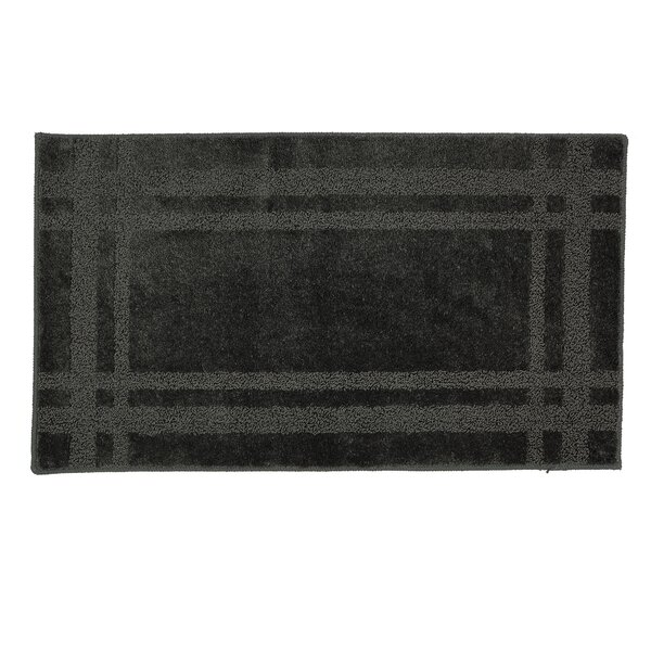 Steelton Rectangle Geometric Bath Rug