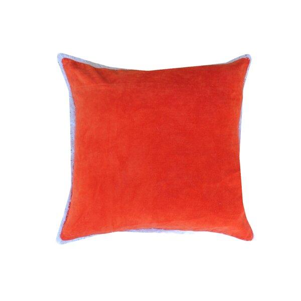 Eryn Handcrafted Designer Velvet Throw Pillow with Fringe by Latitude Run