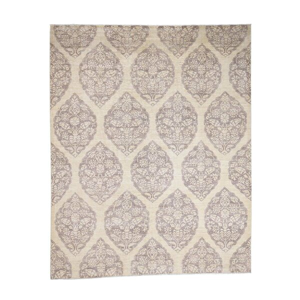 One-of-a-Kind Penland Peshawar with Mughal Hand-Knotted Beige Area Rug by World Menagerie