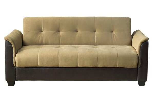 Forbes Tufted Storage Futon Sleeper by Ebern Designs