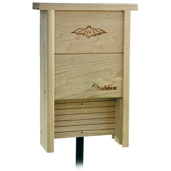 Audubon Cedar 15.5 in x 14.5 in x 3.5 in Bat House by Woodlink Audubon