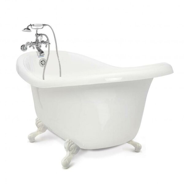 Chelsea 60 x 32.5 Clawfoot Soaking Bathtub with Wall Mount Faucet by American Bath Factory