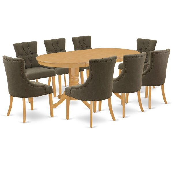 Axelson 9 Piece Extendable Solid Wood Dining Set By Winston Porter