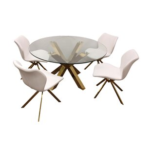 Leedom 5 Piece Dining Set By Everly Quinn