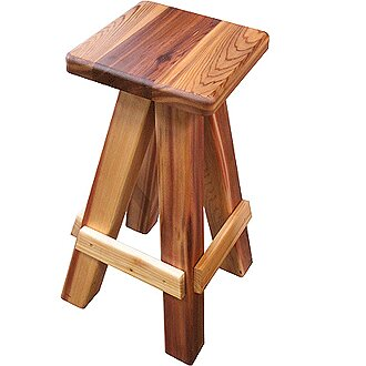 Western Cedar  Swivel Bar Stool by Gronomics