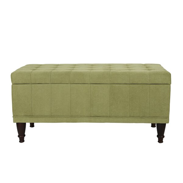 Noell Sturdy Rectangular Lift Top Tufted Storage Ottoman by Charlton Home