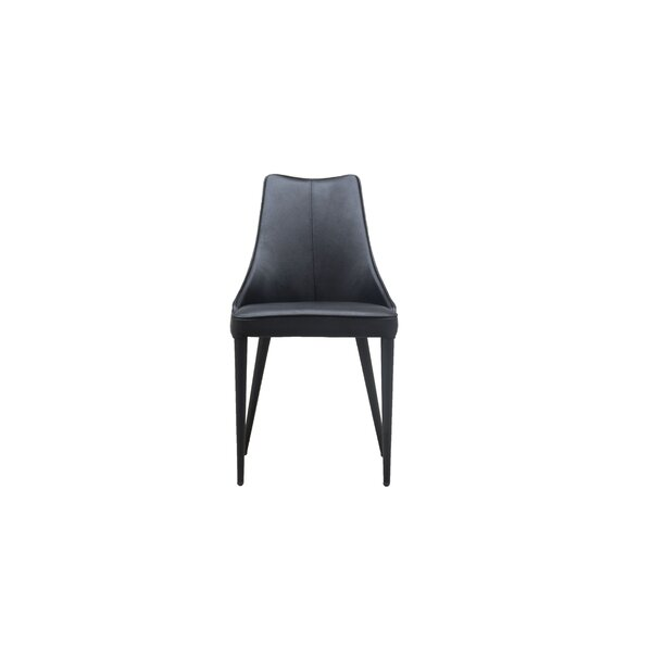 Saramarie Genuine Leather Upholstered Dining Chair (Set of 2) by Orren Ellis