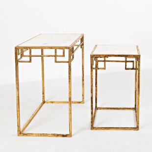 Compare prices Callimont 2 Piece Nesting Tables By Bungalow Rose