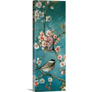 'Blossom III' by Lisa Audit Painting Print on Wrapped Canvas by Great Big Canvas