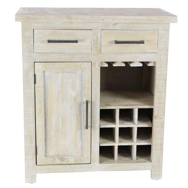 Bergeronnes 9-Bottle Floor Wine Cabinet by Loon Peak