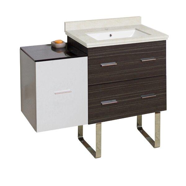 Kyra 38 Glazed Single Bathroom Vanity Set by Orren Ellis