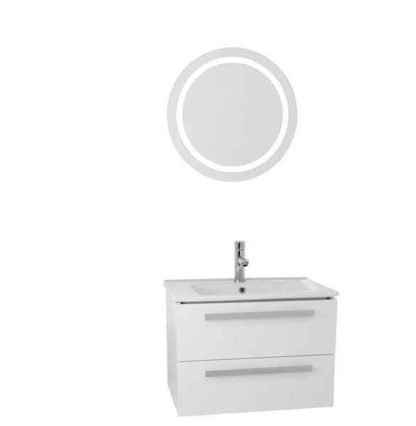 Dadila 25 Single Bathroom Vanity Set with Mirror by Nameeks Vanities