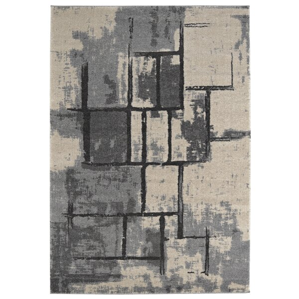 Maloy Gray Area Rug by Ivy Bronx