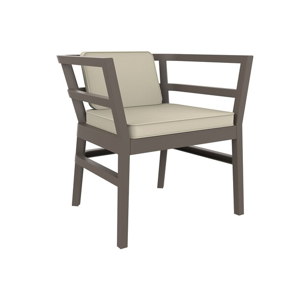 Gina Patio Dining Chair with Cushion by Ivy Bronx