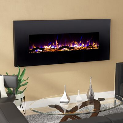 Wrought Studio Depasquale Wall Mounted Electric Fireplace
