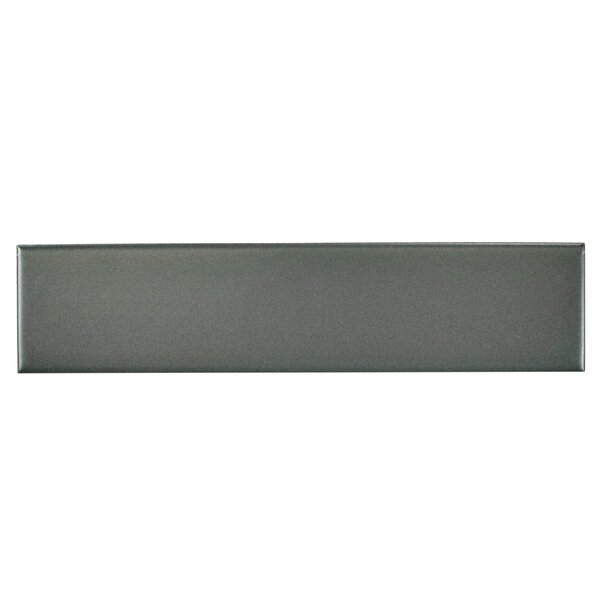 Retro 1.75 x 7.75 Porcelain Subway Tile in Matte Gray by EliteTile