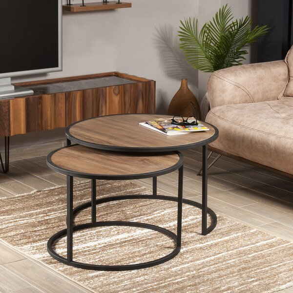Abels 2 Piece Nested Coffee Table Set By Ebern Designs