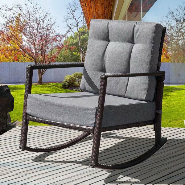 Antonie Rocking Chair with Cushions by Ivy Bronx