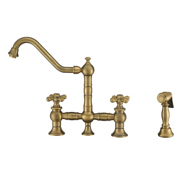 Vintage III Plus Bridge Faucet with Side Spray by Whitehaus Collection