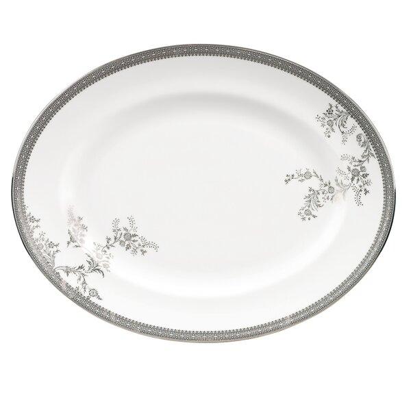 Vera Lace Oval Platter by Vera Wang