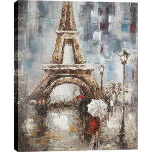 Eiffel Tower by Luna Painting on Wrapped Canvas by Hobbitholeco.