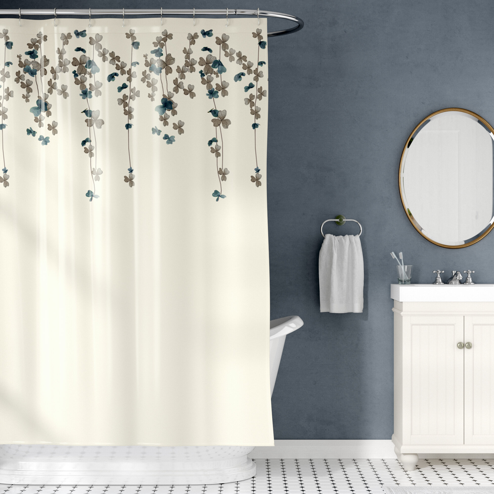 Willa Arlo Interiors Riehl Embroidered Shower Curtain Reviews